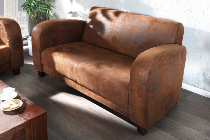 Eleganter 2-Sitzer HAVANNA LOUNGE braun Lounge Sofa