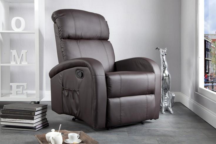 Relaxsessel Mit Liegefunktion Design ~ Moderner Relaxsessel COSY mit Liegefunktion braun  Riess Ambiente