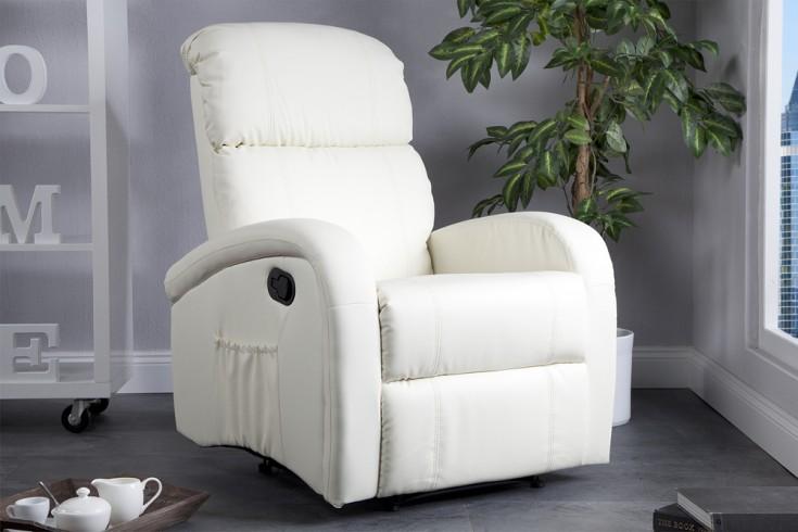 Relaxsessel Mit Liegefunktion Design ~ Moderner Relaxsessel COSY mit Liegefunktion creme  Riess Ambiente