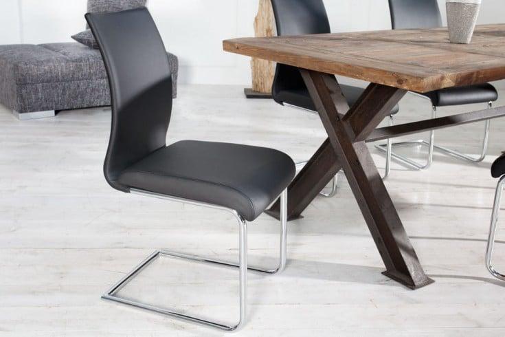 Design freischwinger stuhl suave schwarz riess ambiente for Design stuhl freischwinger piet 30