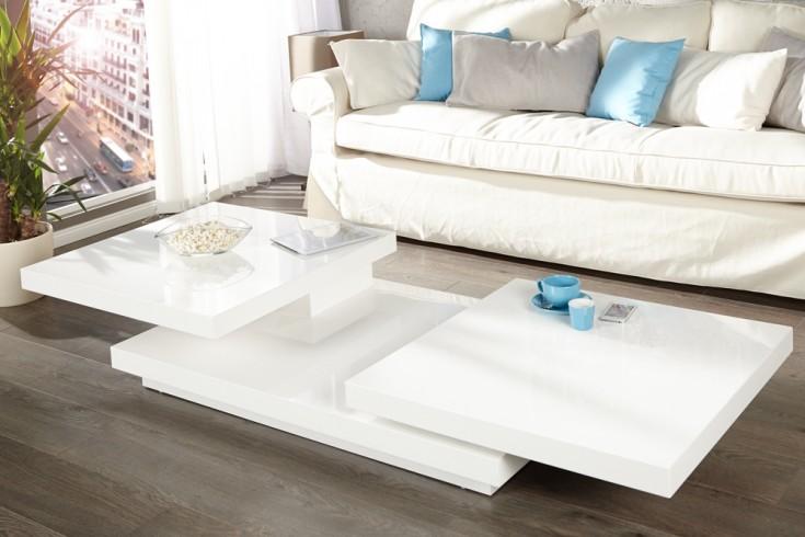 Design Couchtisch Hochglanz Weiß ~ Design Couchtisch MULTILEVEL L hochglanz weiss  Riess Ambiente