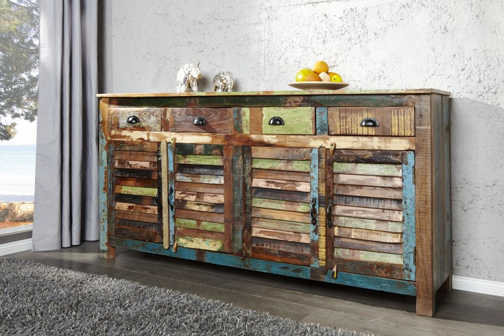 Sideboard jakarta 180 cm recycling riess for Sideboard farbig