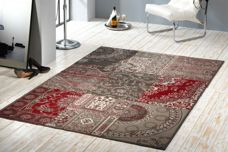 Großer Design Patchwork Teppich COPPER braun 160x230 cm