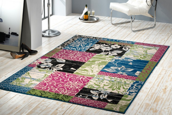 Großer Design Patchwork Teppich PARADISE 160x230 cm