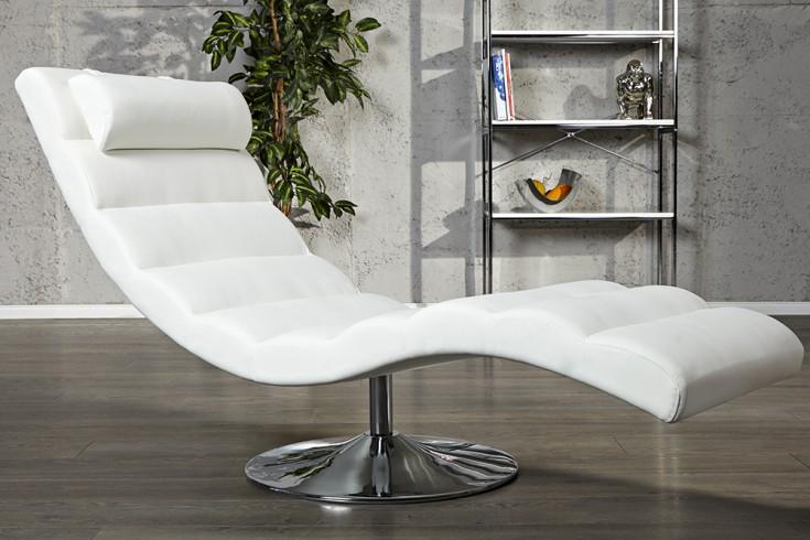 extravagante design liege relaxo weiss relaxliege riess. Black Bedroom Furniture Sets. Home Design Ideas