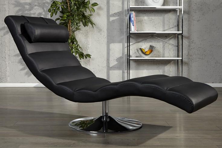 Extravagante Design Liege RELAXO schwarz Relaxliege