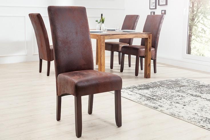 2er edler kolonial stuhl valentino cigar braun vintage. Black Bedroom Furniture Sets. Home Design Ideas