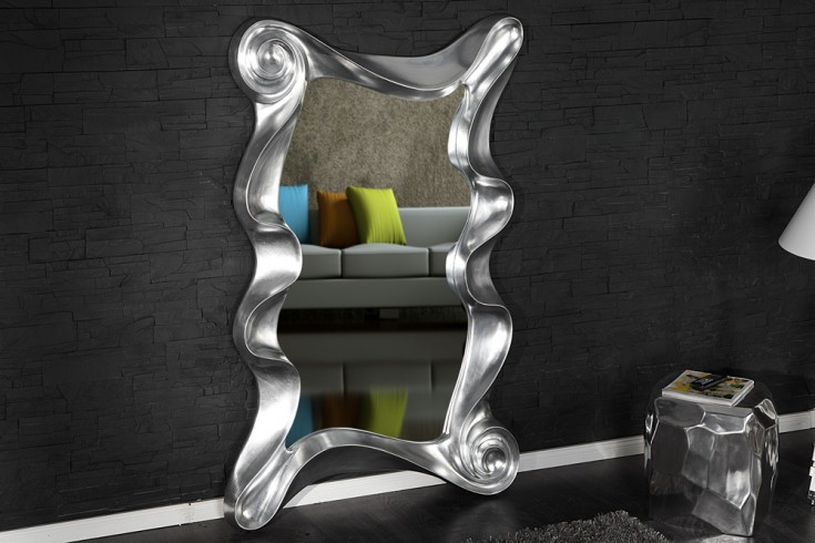 riesiger wandspiegel alice silber 160 cm spiegel skulptur designobjekt riess ambiente onlineshop. Black Bedroom Furniture Sets. Home Design Ideas