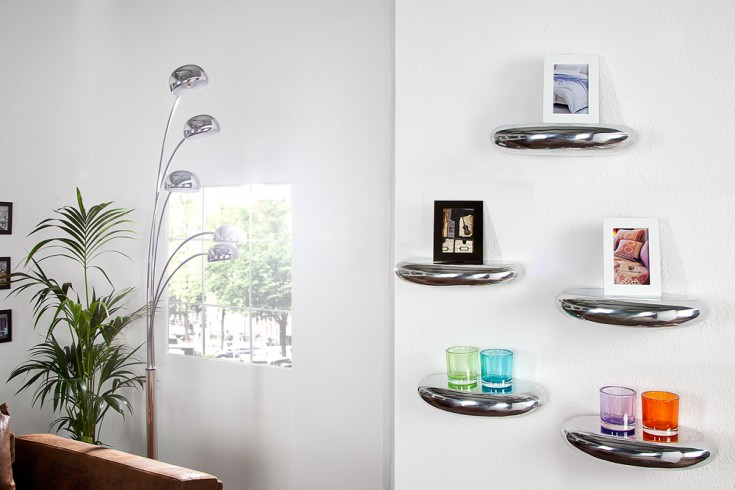 Design Wandregal TEAR Metall - Aluminium - Legierung 40x20 cm