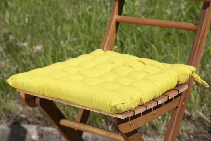 Design Sitzkissen SUMMER Gelb 40x40cm