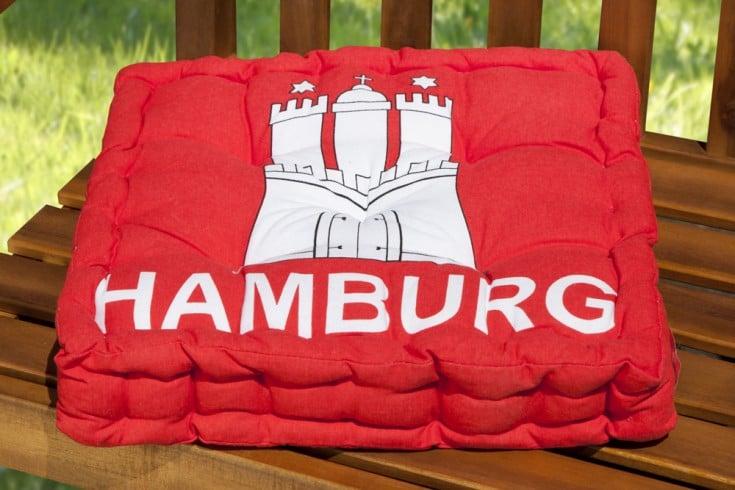design sitzkissen sun hamburg wappen 40x40cm auflage riess. Black Bedroom Furniture Sets. Home Design Ideas