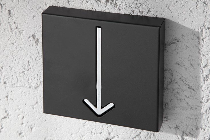 Design Wandgarderobe ARROW 1er schwarz Garderobe
