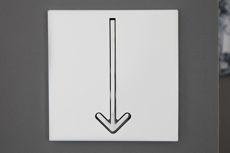Design Wandgarderobe ARROW 1er weiß Garderobe