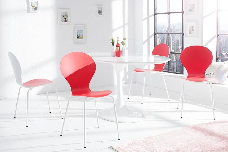 4er set stuhl form designklassiker aus hochwertigem formholz bicolor sonderedition rot wei. Black Bedroom Furniture Sets. Home Design Ideas