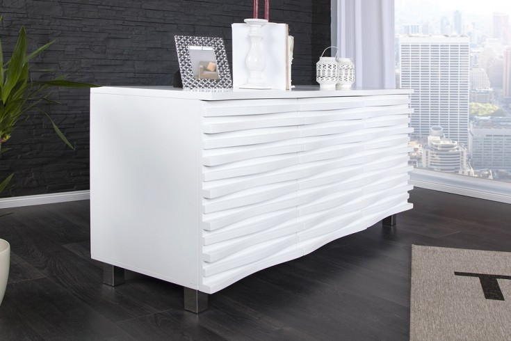 elegantes design sideboard craze 150cm weiss matt riess ambiente onlineshop. Black Bedroom Furniture Sets. Home Design Ideas
