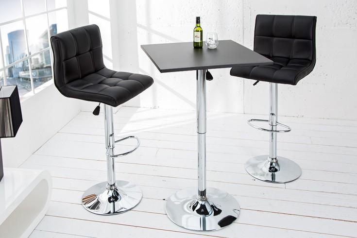 Design Stehtisch MOVE 60cm schwarz Bistrotisch Bartisch höhenverstellbar