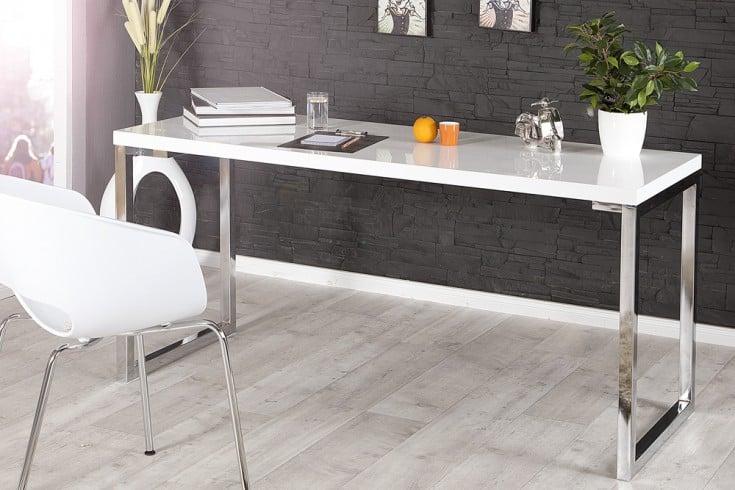 Schreibtisch weiß hochglanz glas  Design Schreibtisch 140cm hochglanz weiß | Riess-Ambiente.de