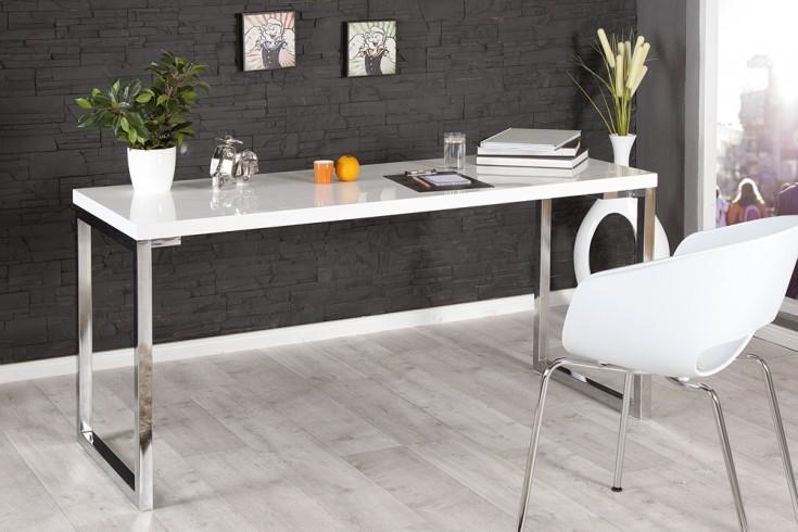 Design Schreibtisch WHITE DESK 160x60cm Hochglanz weiß