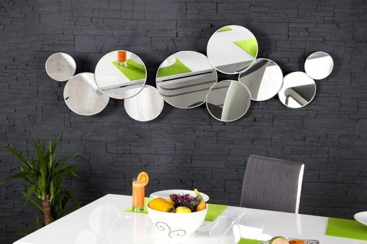 Großer Design Wandspiegel REDONDO 145cm rund hoch und quer