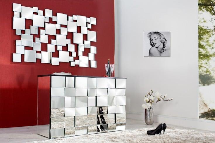 Großer Design Wandspiegel MULTIPLO 140 cm hoch und quer