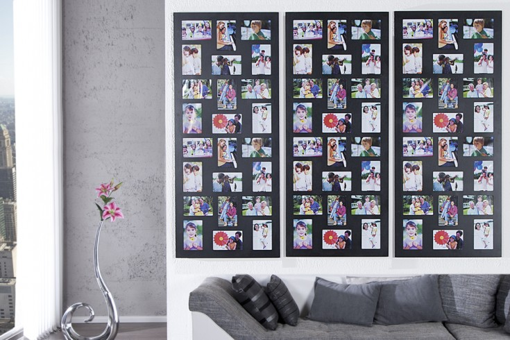 edler holz bilderrahmen image xxl schwarz f r 24 fotos format 10x15cm riess ambiente onlineshop. Black Bedroom Furniture Sets. Home Design Ideas