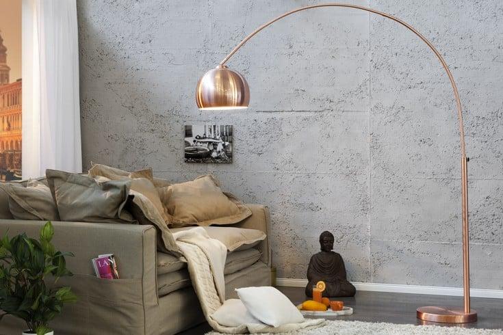 Design Bogenlampe LOUNGE DEAL Kupfer 170 - 210cm ausziehbar Bogenleuchte