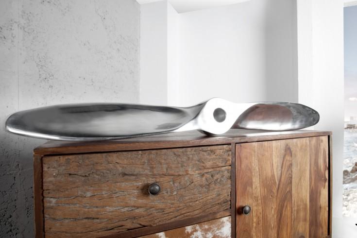 Design Wanddekoration Propeller SCREW II 110cm Metall-Aluminium Legierung poliert