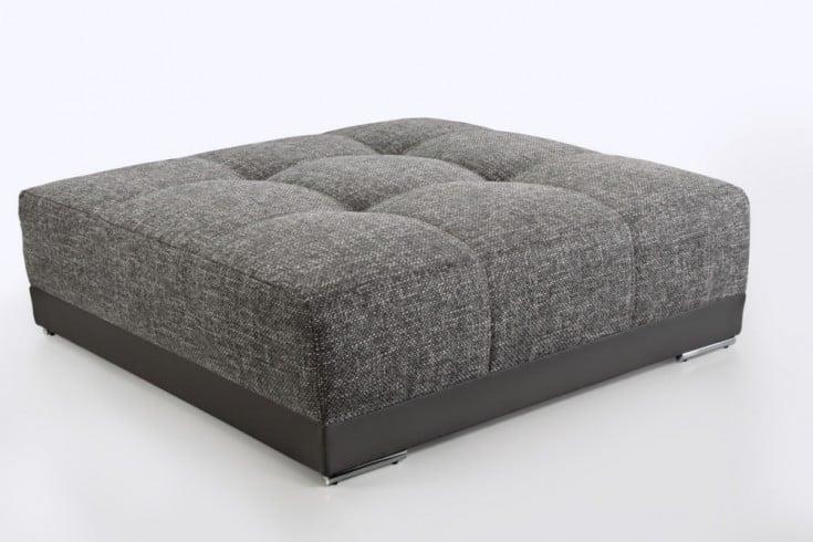 Passender Hocker zum XXL Sofa GIANT LOUNGE Kunstleder Strukturstoff Taupe