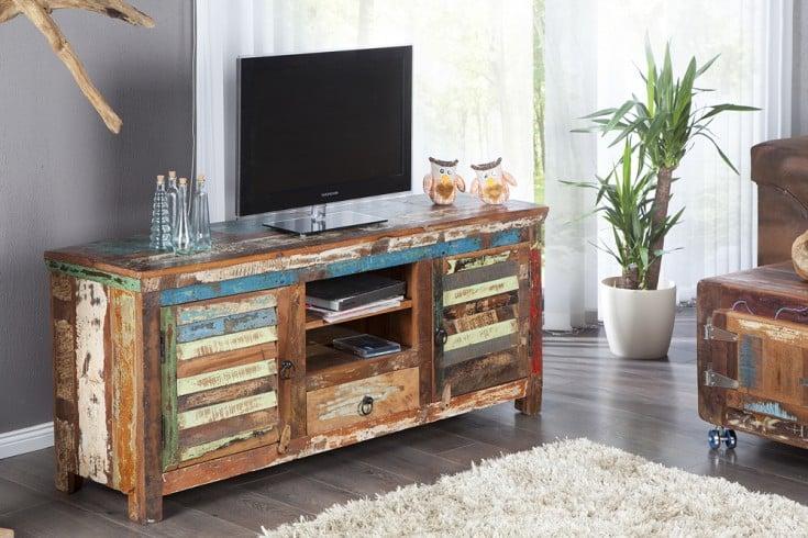 tv board jakarta 150cm recyceltes massiv holz unikat. Black Bedroom Furniture Sets. Home Design Ideas