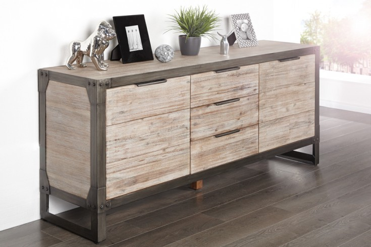 sideboard industrial 180 cm riess. Black Bedroom Furniture Sets. Home Design Ideas
