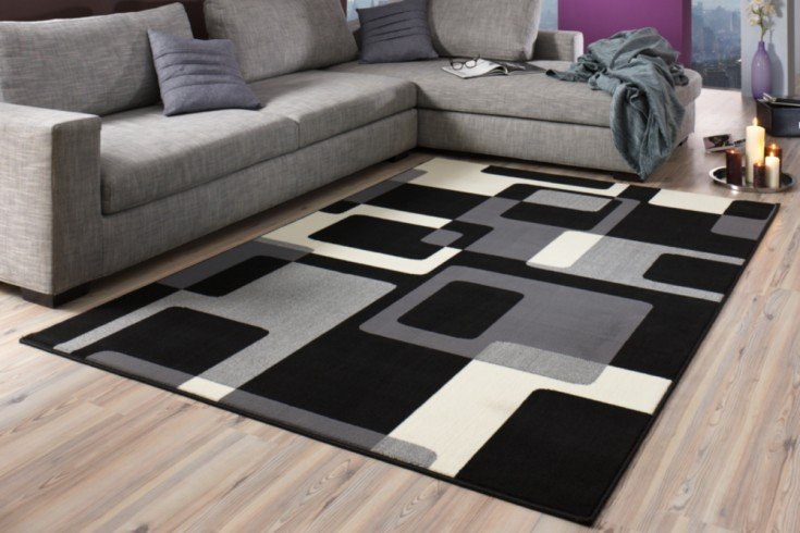 Retro Design Teppich SQUARE 160x230cm