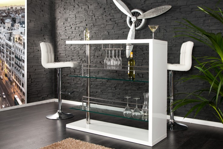 design bartisch barkeeper hochglanz weiss 120cm hausbar. Black Bedroom Furniture Sets. Home Design Ideas