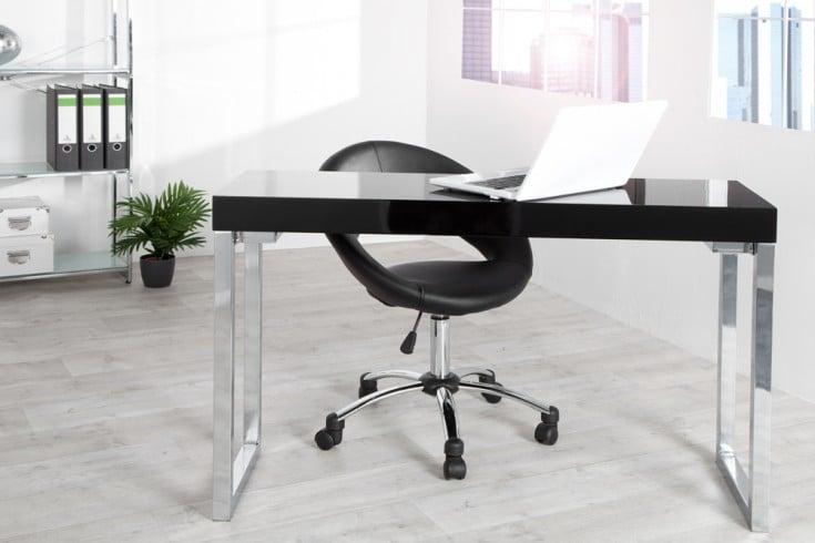 Design Laptoptisch 120x40cm Hochglanz schwarz Bürotisch