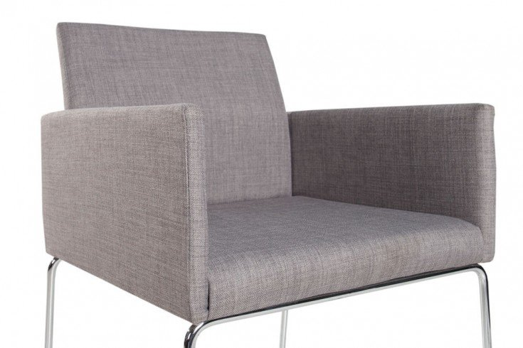 Eleganter design stuhl livorno strukturstoff grau riess for Stuhl design grau