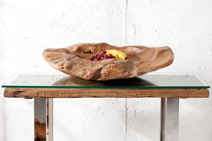 Exklusive XXL Teakholzschale ROOT TRAY 65cm aus massivem Teak Holz unbehandelt naturfarben Wurzelholz Schale
