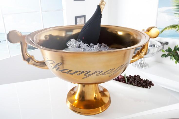 Eleganter Design Champagner-Kühler CHAMPAGNE 65 cm Goldoptik Metall - Aluminium - Legierung poliert Sektkübel