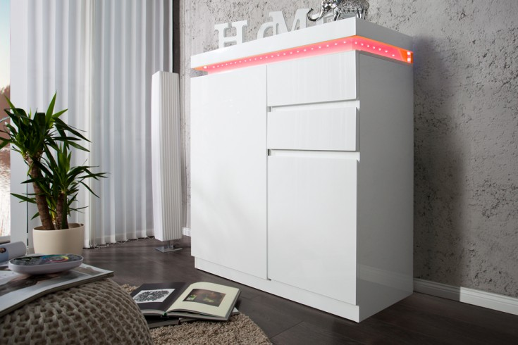 design schuhschrank venue hochglanz weiss 100cm inkl led farbwechsel funktion riess ambiente. Black Bedroom Furniture Sets. Home Design Ideas