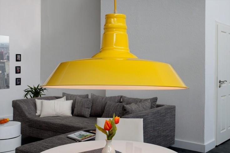 Stylische Industrieleuchte LUCA  gelb Hängelampe 45cm Industrielampe