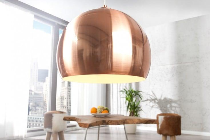 Exklusive Design Hängeleuchte COPPER BALL Kupfer 30cm Hängelampe