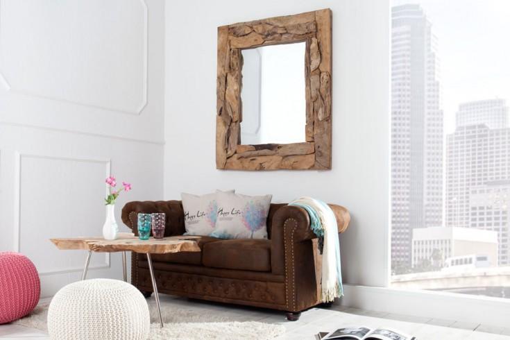 Massiver treibholz spiegel tribe aus recyceltem teakholz for Design couchtisch nature lounge teakholz mit runder glasplatte
