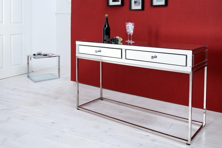 Verspiegelte Design Konsole LEVEL 130 cm Spiegelglas