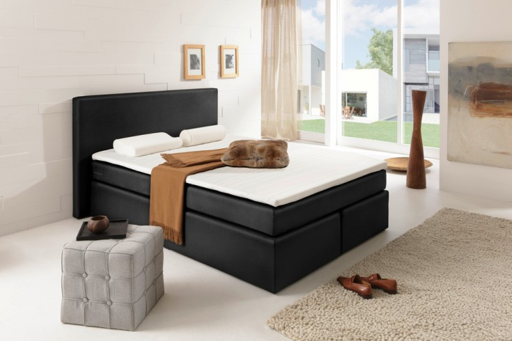 boxspringbett rochelle 140x200 cm anthrazit mit matratze. Black Bedroom Furniture Sets. Home Design Ideas