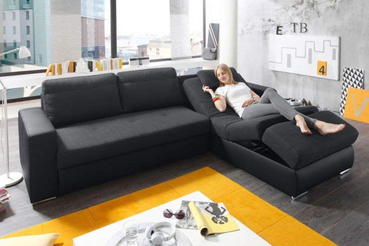 ecksofa futura anthrazit funktionssofa relaxfunktion inkl fernbedienung riess ambiente onlineshop. Black Bedroom Furniture Sets. Home Design Ideas