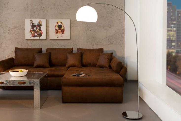 bogenlampe lounge deal eco wei chrom finish 160cm riess. Black Bedroom Furniture Sets. Home Design Ideas