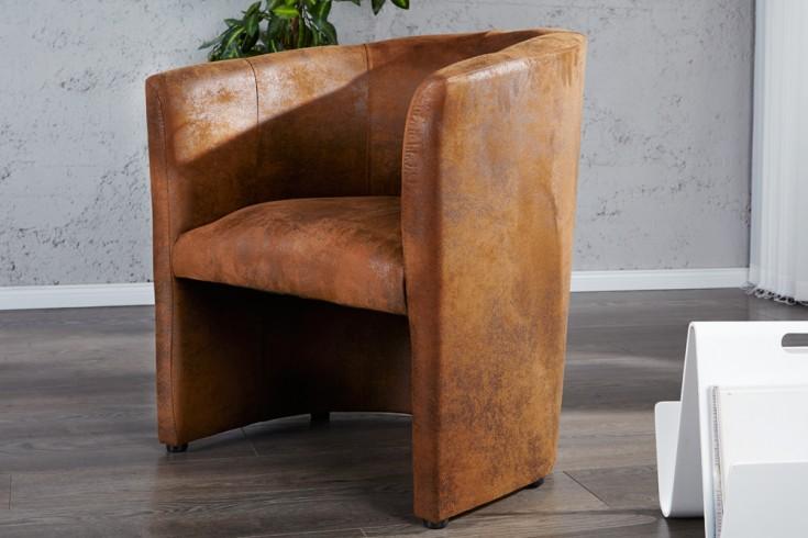 stylischer clubsessel art deco braun antik sessel. Black Bedroom Furniture Sets. Home Design Ideas