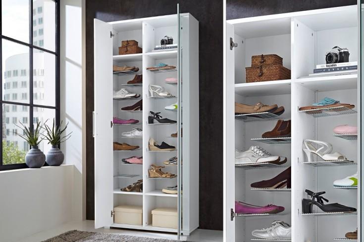 schuhwunder barci wei hochglanz 200 cm schuhschrank. Black Bedroom Furniture Sets. Home Design Ideas