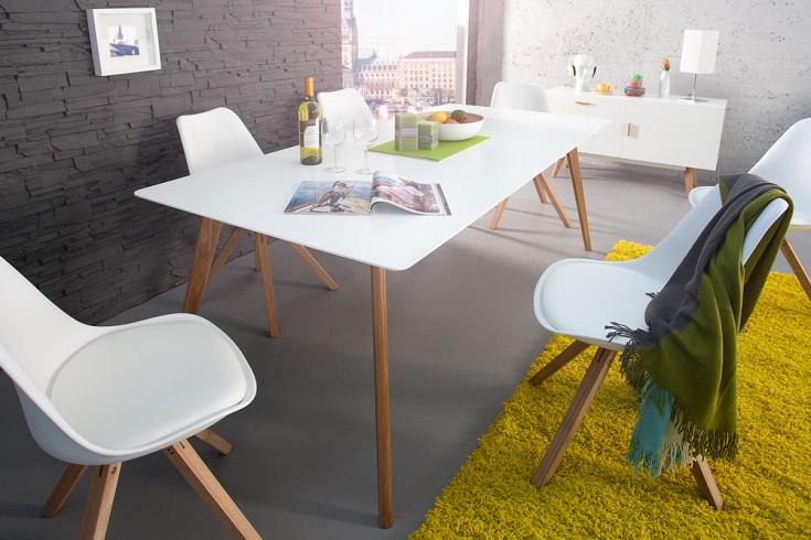 Esstisch Retro Design ~ Design Retro Esstisch SCANDINAVIA MEISTERSTÜCK 160cm weiß Echt Eiche  Riess