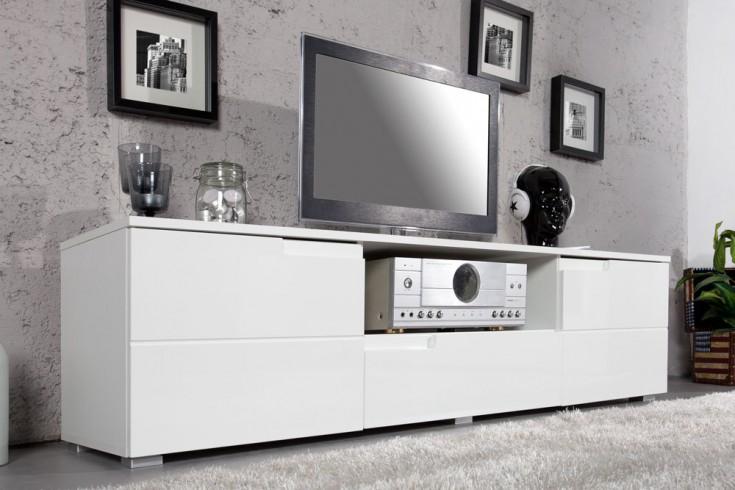 Design TV-Lowboard CLUB 165cm weiß Hochglanz TV-Board