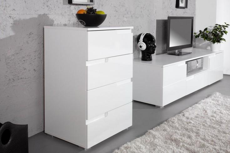 Design Kommode CLUB 50cm weiß Hochglanz