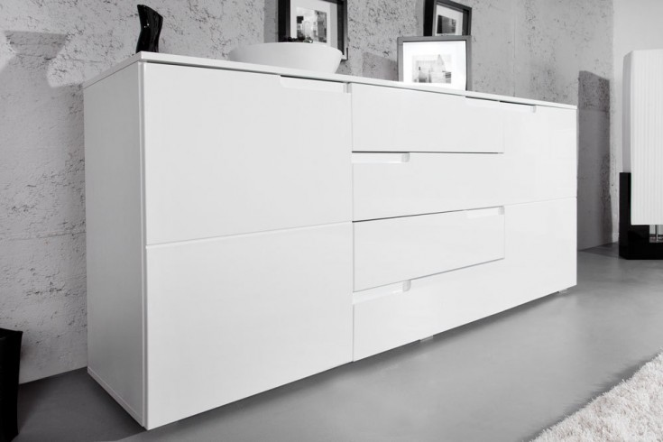Design Sideboard CLUB 165cm weiß High Gloss Kommode